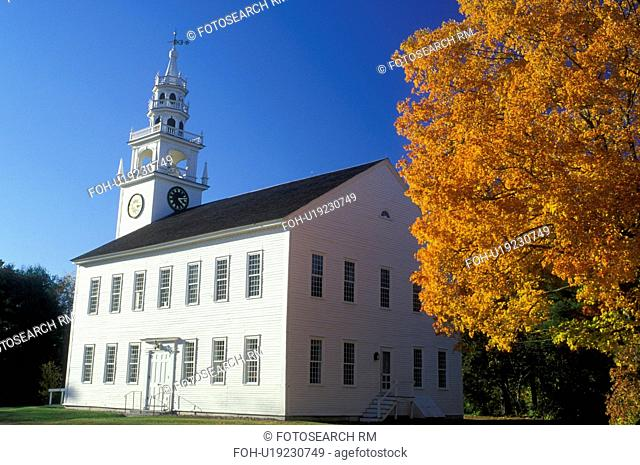 Jaffrey Center, NH, New Hampshire, Meeting House in Jaffrey Center in the autumn
