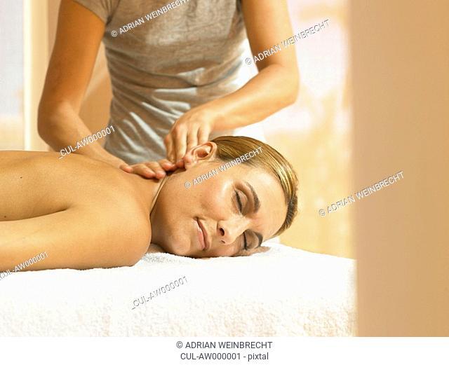 Woman receiving a luxury massage