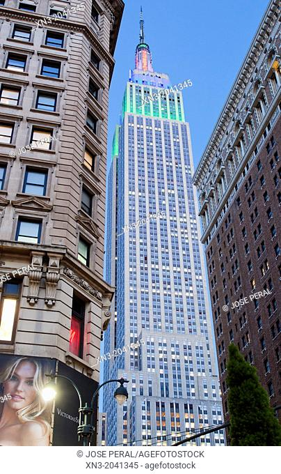 34th street, Empire State Building, Midtown, Manhattan, New York, New York City, United States, USA