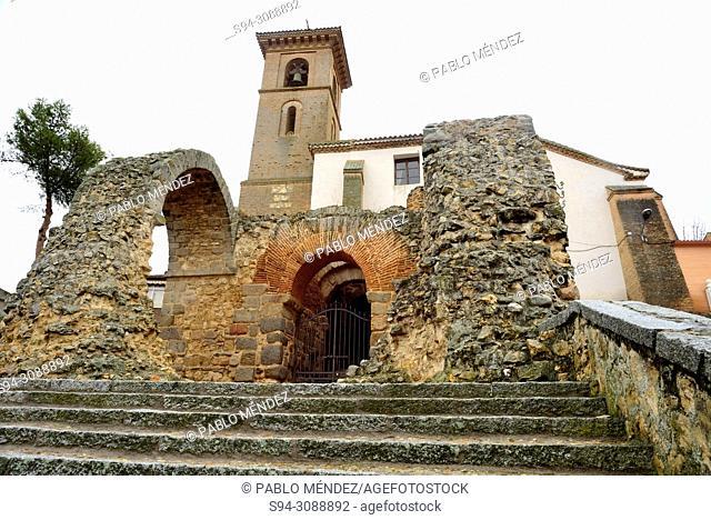 Church of Santa María de los Alcazares and Caliphal Gate of Maqueda, Toledo, Spain