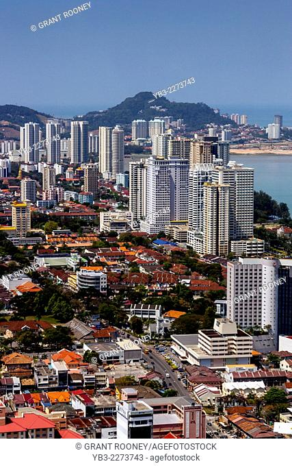 An Elevated View Of Georgetown From The Komtar Tower, Penang, Malaysia