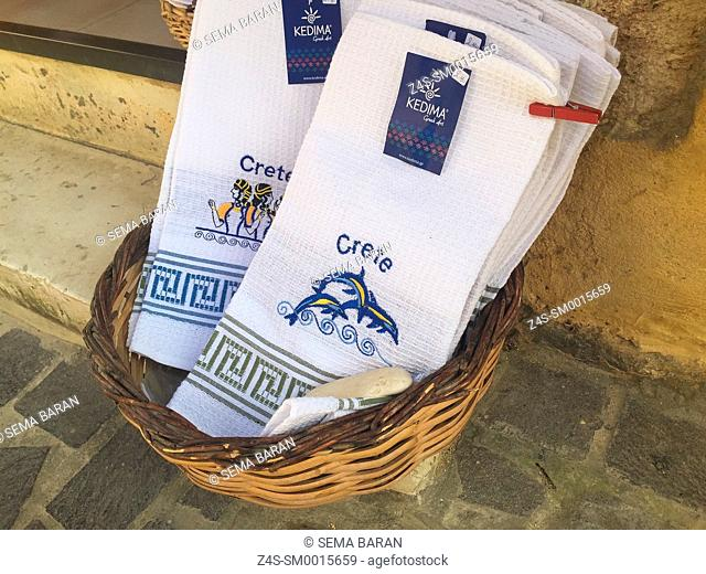 Crete embroidery shop Stock Photos and Images | age fotostock