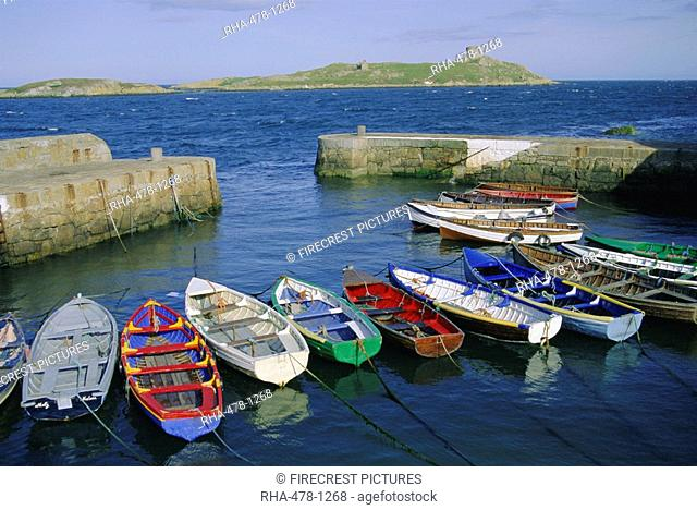 Dalkey Island and Coliemore Harbour, Dublin, Ireland, Europe