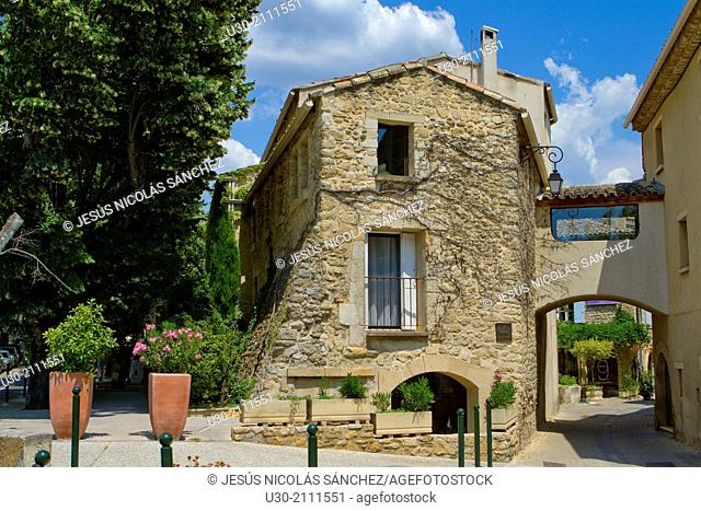 Lourmarin, labelled as the most beautiful villages of France, Louberon, in Apt district, Vaucluse department and Provence-Alpes-Côte d'Azur region