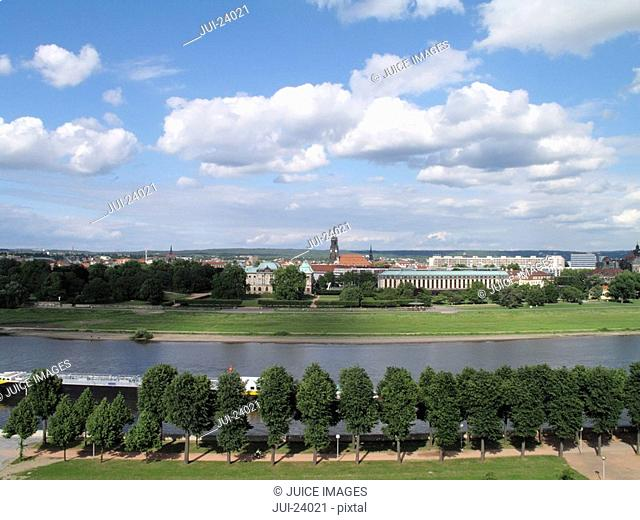 View of Dresden, Germany in distance