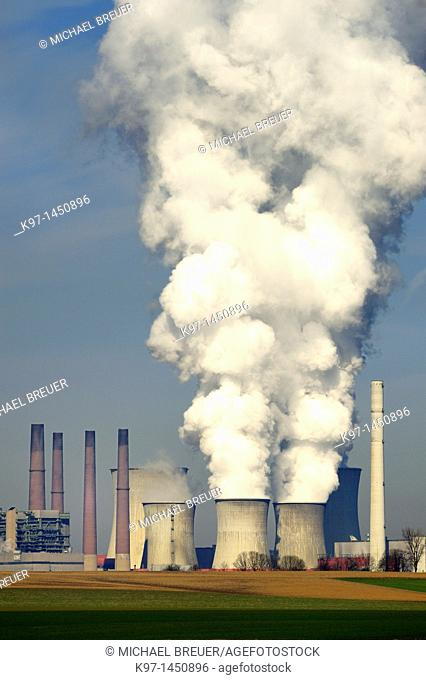 Brown coal-fired power station, Neurath, North-Rhine Westphalia, Germany, Europe