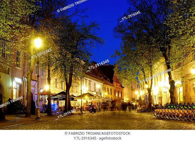 Pilies street, Vilnius, Lithuania