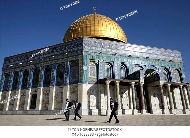 The Dome of the Rock on Temple Mount in the Old City of Jerusalem
