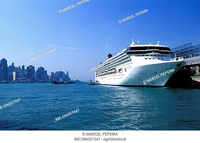 China, Hong Kong, Kowloon, boat