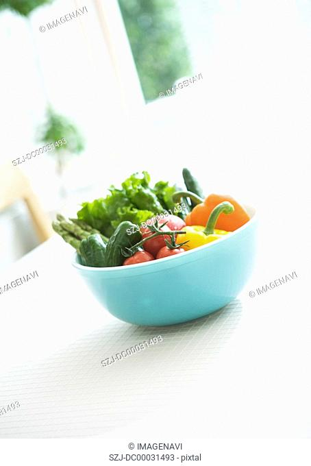 Fresh Vegetables in Bowl