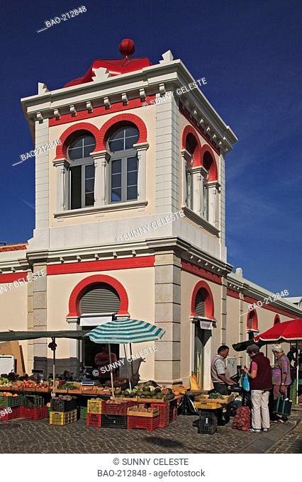 covered market of Loule, Algarve, Portugal