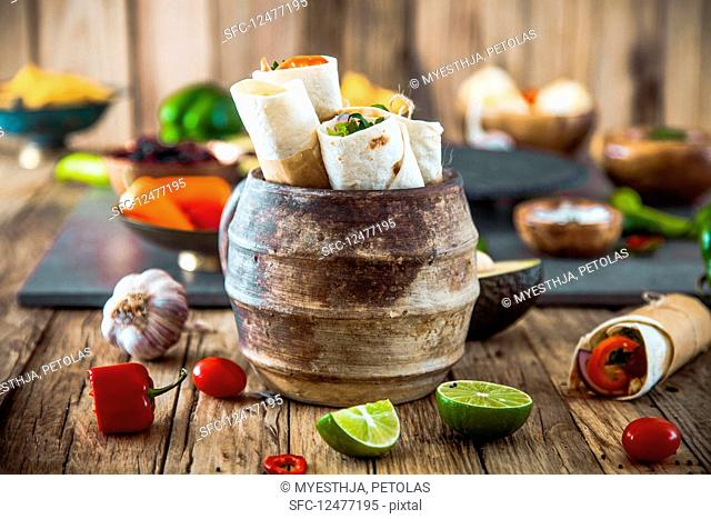 Tortilla wraps with vegetables (Mexico)