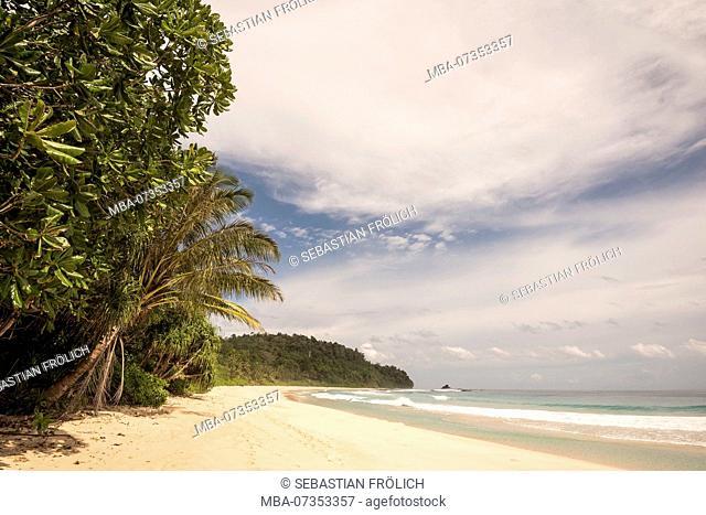 Beach of turtle island Bangkaru