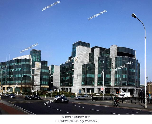 Republic of Ireland, Dublin, Dublin, The AIB branch in the International Financial Services Centre IFSC in the North Wall area of Dublin