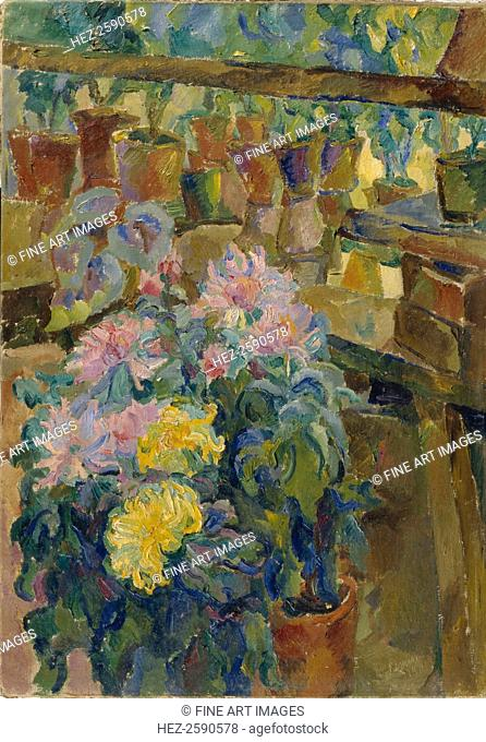 Chrysanthemums, 1911. Found in the collection of the State Art Museum of the Kyrgyz Republic, Bishkek
