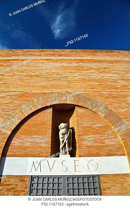 Roman Museum next to the Roman Teatre of Merida, Merida, Badajoz, Extremadura, Spain