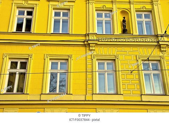 Czech Republic, Prague, painted facade