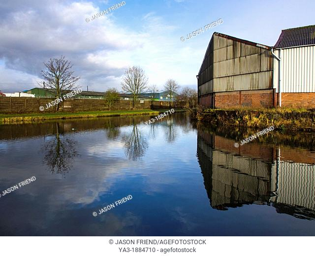 England, West Midlands, Stourbridge Canal  Industrial unit located on the Stourbridge Canal near Brierley Hill in the Black Country
