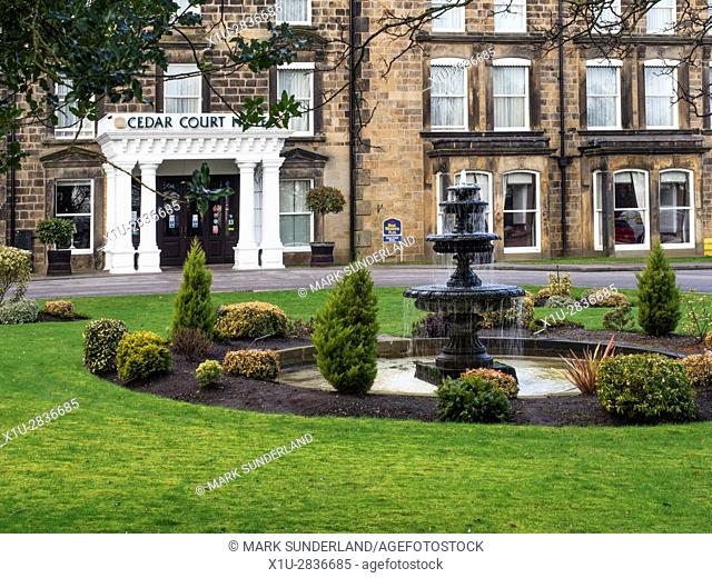 The Cedar Court Hotel Former Queen Hotel and Oldest Hotel in Harrogate North Yorkshire England