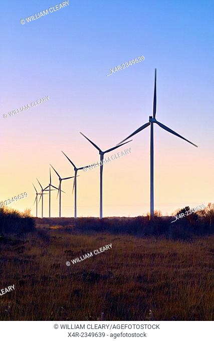 Wind turbines at Mount Lucas, County Offaly, Ireland