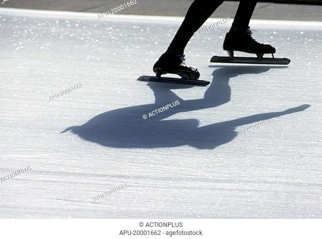 Low profile of a speed skater