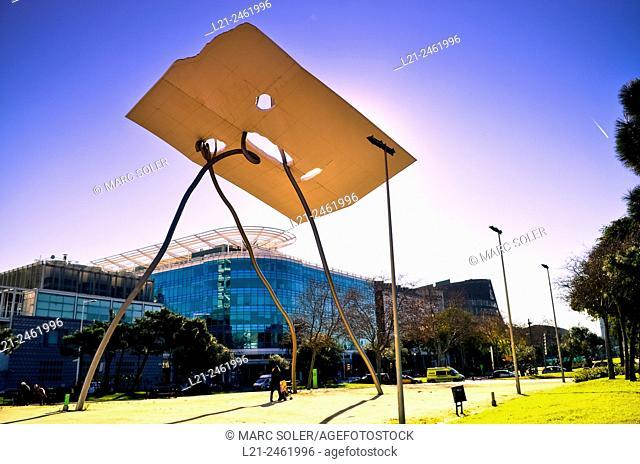 David i Goliat sculpture by Antoni Llena 1992. Olympic Village. Barcelona, Catalonia, Spain