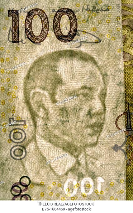 100, Dirham marroqui, rey de marruecos, moneda africana, moneda marroqui, dinero, moneda, divisa, primer plano, valor, economia, cotización, mercado
