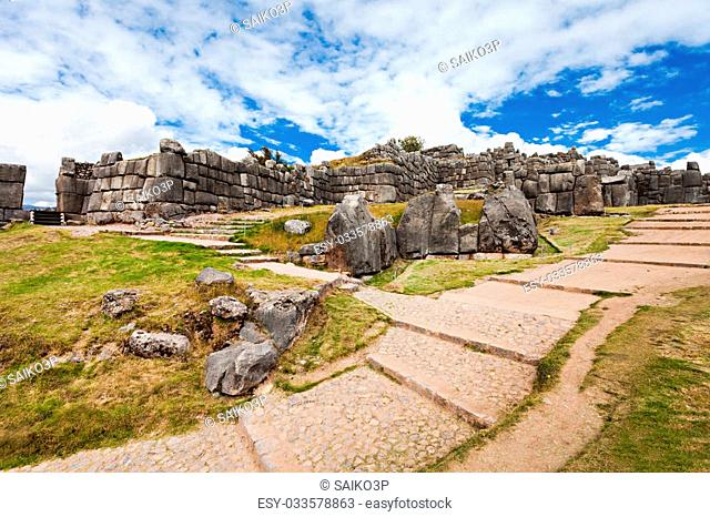 Saksaywaman is the historic capital of the Inca Empire in Cusco, Peru