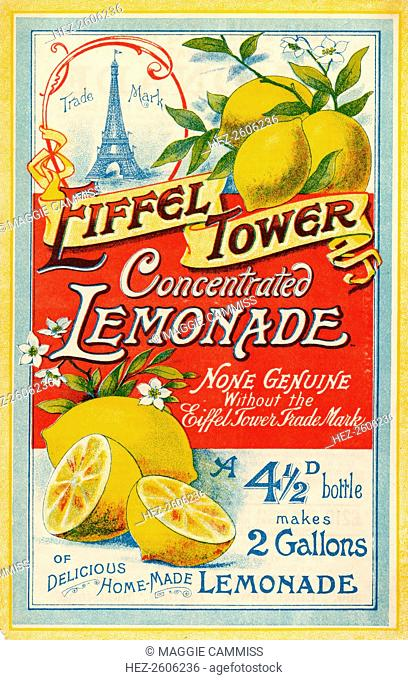 Eiffel Tower Concentrated Lemonade, c.1900