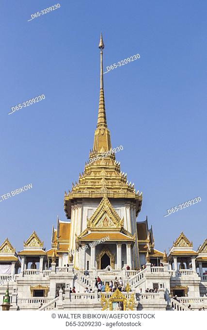 Thailand, Bangkok, Chinatown, Wat Traimit, home of the Golden Buddha, exterior
