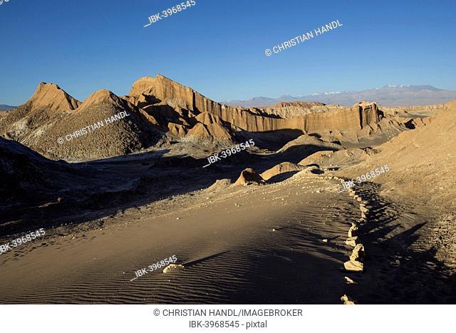 Sand dune in the Valle de la Luna or Valley of the Moon, San Pedro de Atacama, Antofagasta Region, Chile