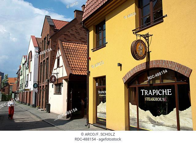 Old town near Friedrich passage, Klaipeda, Lithuania, Baltic states, Europe