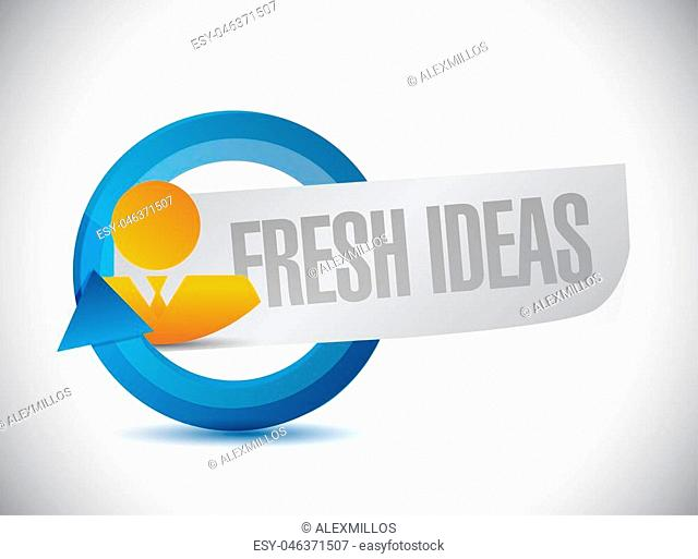Fresh Ideas people sign concept illustration design graphic