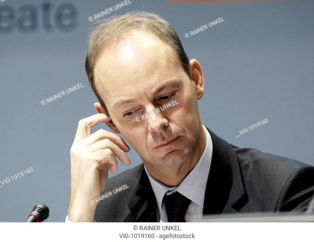 Bilanzpressekonferenz der Bertelsmann AG am 18.03.2008 : Thomas RABE , Vorstandsmitglied - Berlin, GERMANY, 18/03/2008