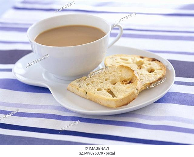 Cafe Au Lait and Bread