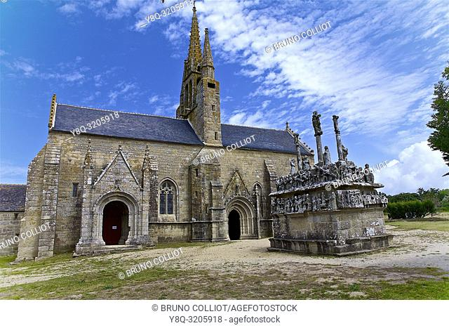 Calvary of the Chapel of Our Lady of Tronoën, Saint-Jean-Trolimon, Finistère, Brittany, France
