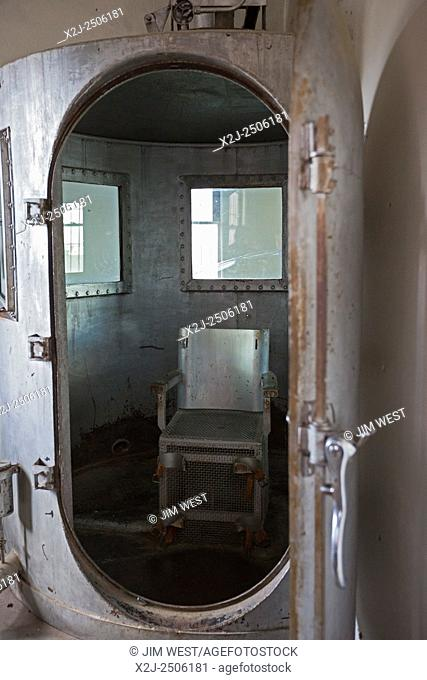 Rawlins, Wyoming - The gas chamber at the former Wyoming State Penitentiary. The prison closed in 1981 after housing 13,500 inmates in its 80 years of operation