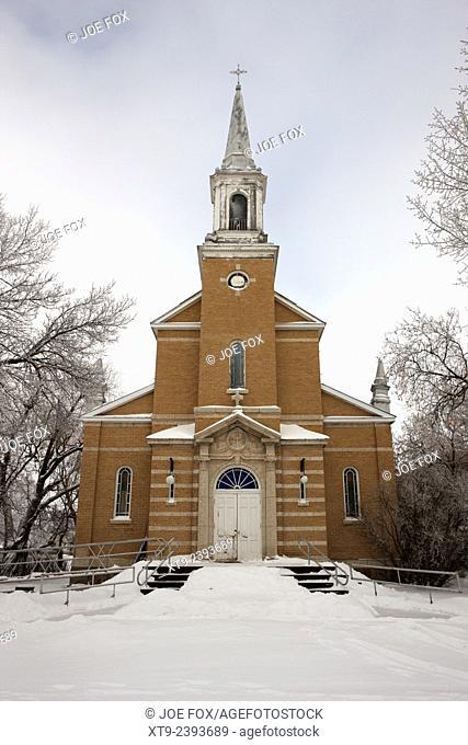 former st josephs catholic church in Forget Saskatchewan Canada