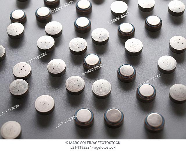 Button batteries for recycling