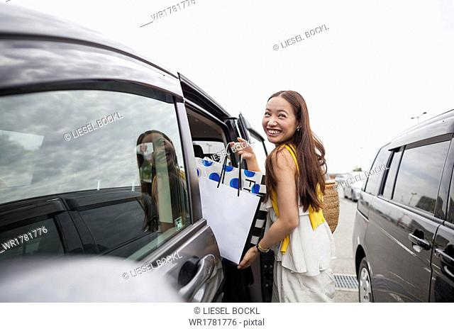 Young woman on a shopping trip