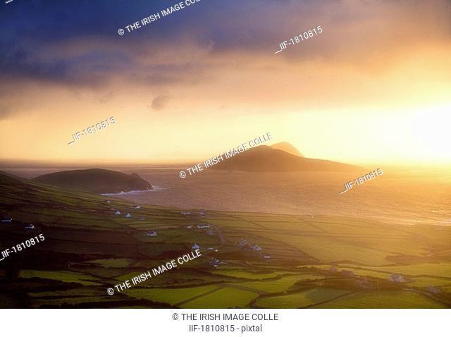 Blasket Islands from Dingle Peninsula, Co Kerry, Ireland