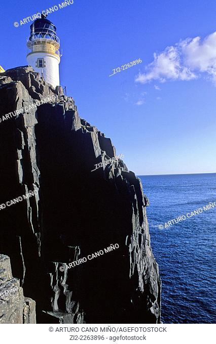 Neist Point Lighthouse. Isle of Skye, Scotland, United Kingdom