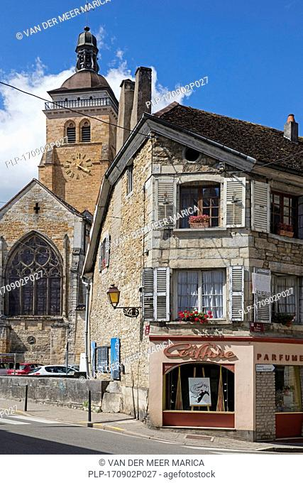 The église Saint-Just / Church of St Just in the town Arbois, commune in the Jura department, Franche-Comté, Lons-le-Saunier, France
