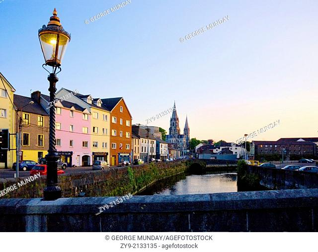 St Finbarr's Cathedral and River Lee - South Channel, Cork City, County Cork, Ireland