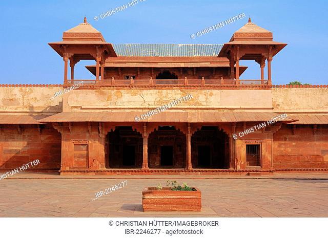 Palace of Jodh Bai, Fatehpur Sikri, UNESCO world heritage site, built by Emperor Akbar, 1569-1585, Uttar Pradesh, India, Asia