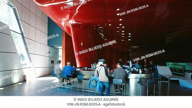 REINA SOFIA MUSEUM, RONDA DE ATOCHA, MADRID, SPAIN, JEAN NOUVEL, INTERIOR, INTERIOR DETAIL OF THE BAR