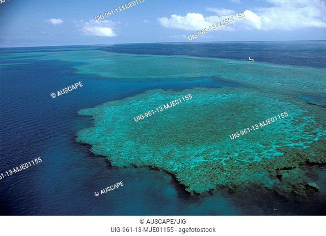 Hardy Reef from the air, Great Barrier Reef, Queensland, Australia