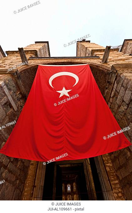 Turkish flag at Hagia Sophia, Istanbul, Turkey
