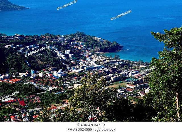 Thailand Phuket General view of Patong