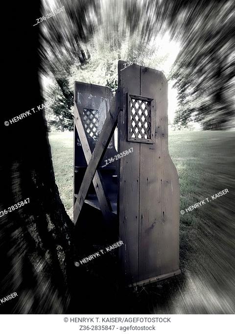 Outdoors confessional, Sanctuary of st Andrzej Bobola, Strachocin, Poland